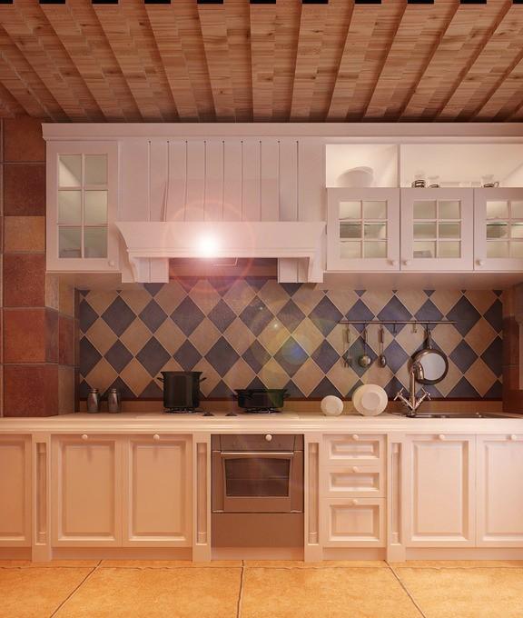 厨房效果图 地中海风格 蓝堡湾 厨房图片来自超凡装饰季国华在蓝堡湾装修效果图的分享