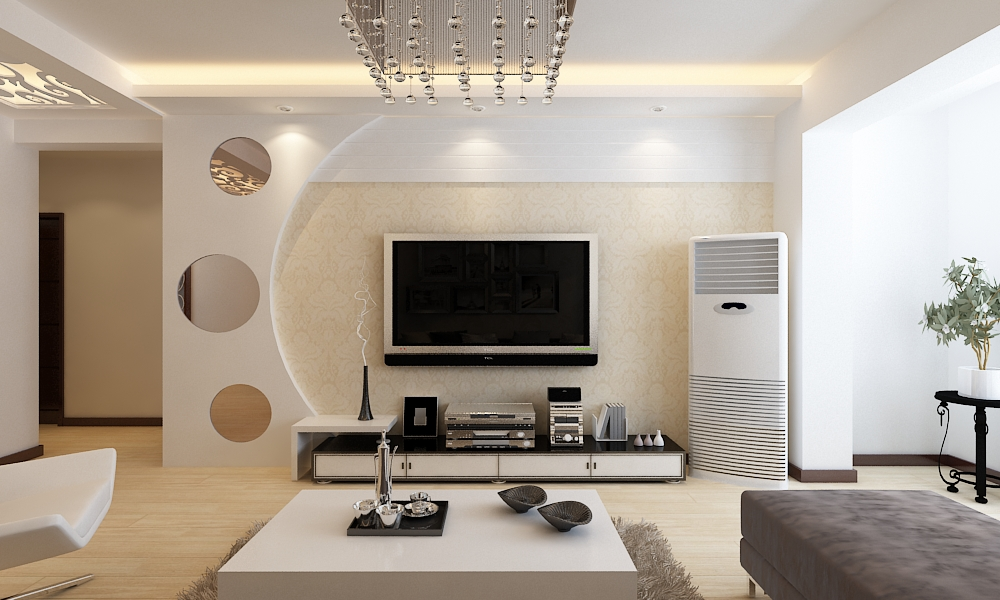 三居 简约 客厅图片来自百家设计小刘在中海国际134平  现代风格 4.2万的分享