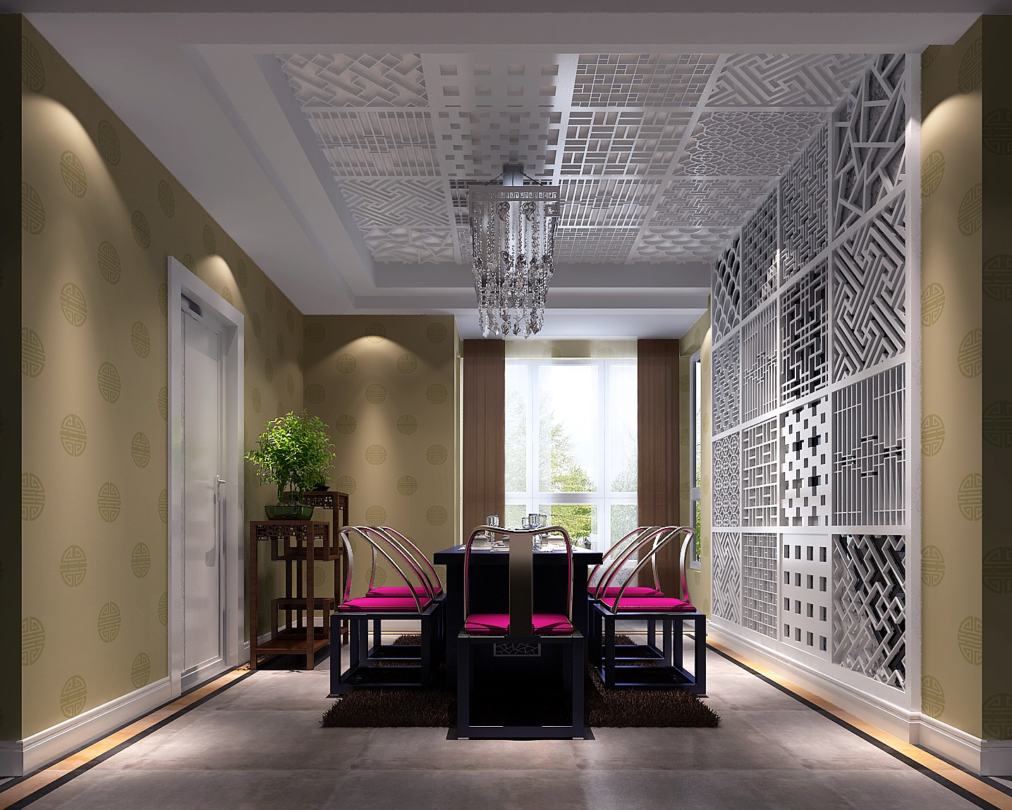 高度国际 御翠尚府 混搭 公寓 餐厅图片来自高度国际在高度国际-御翠尚府的分享