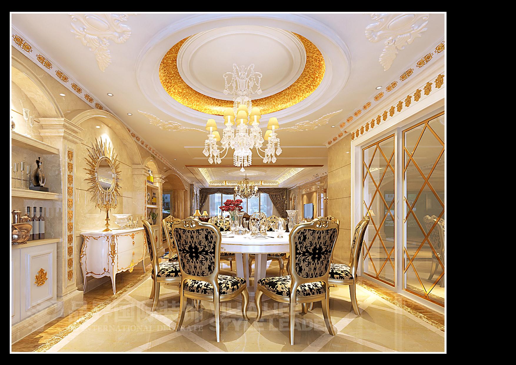 餐厅图片来自石家庄品界国际装饰在恒大华府欧式风格装修的分享