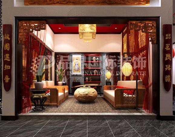 书房图片来自石家庄品界国际装饰在会所设计的分享