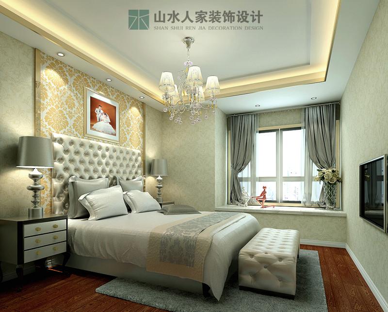 后现代 卧室图片来自山水人家装饰在三江航天首府--后现代风格的分享