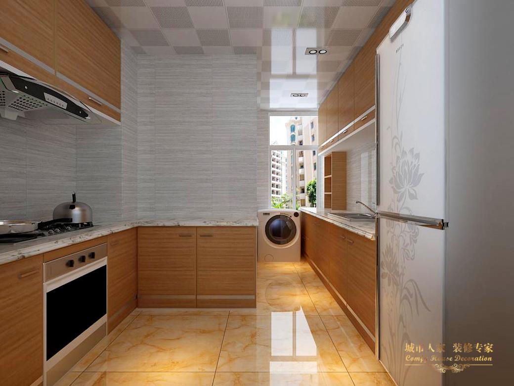 简约 城市人家 设计案例 效果图 厨房图片来自太原城市人家装饰在御龙庭—128平米设计的分享