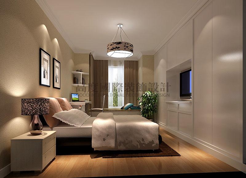 高度国际 中景江山赋 现代简约 公寓 卧室图片来自高度国际在高度国际-86平米现代简约的分享