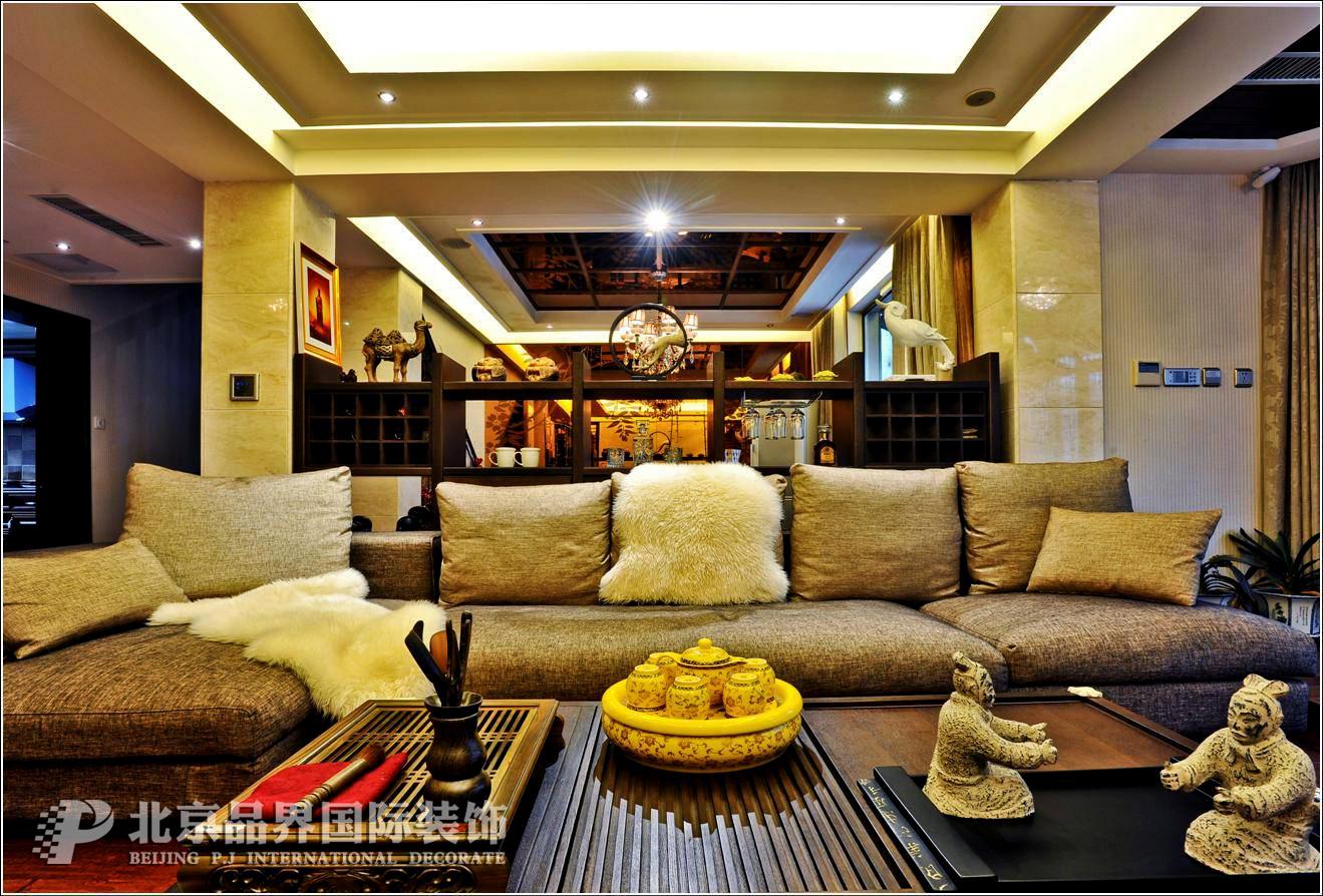 别墅 客厅图片来自石家庄品界国际装饰在金苑世家现代风格实景照片的分享