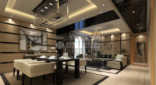 利用电视柜将客餐厅做区域划分