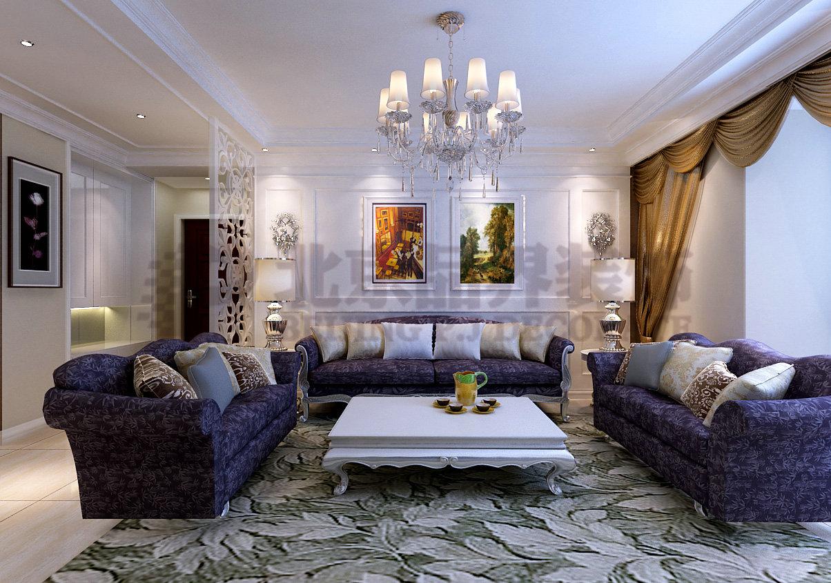 客厅图片来自石家庄品界国际装饰在藏龙福地欧式风的分享