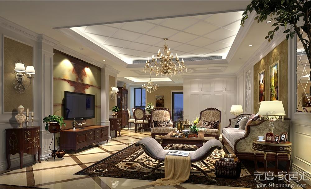 欧式 简约 混搭 三居 白领 80后 小资 客厅图片来自室内设计装饰在川豪装饰简欧风格装修案例的分享