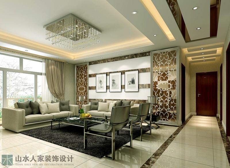 后现代 客厅图片来自山水人家装饰在三江航天首府--后现代风格的分享