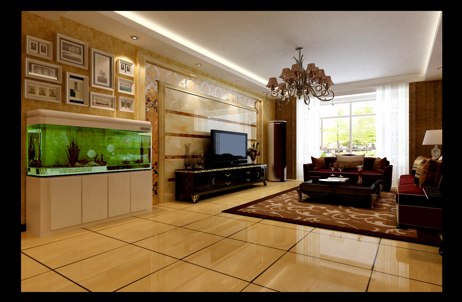 现代奢华 石家庄装修 四句 小资 新房 婚房 客厅图片来自用户5166203636在瑞城的分享