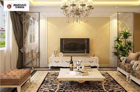 今朝装饰 标杆工程 众美 凤凰台 三居 客厅图片来自今朝装饰-心情放晴在众美凤凰台的分享