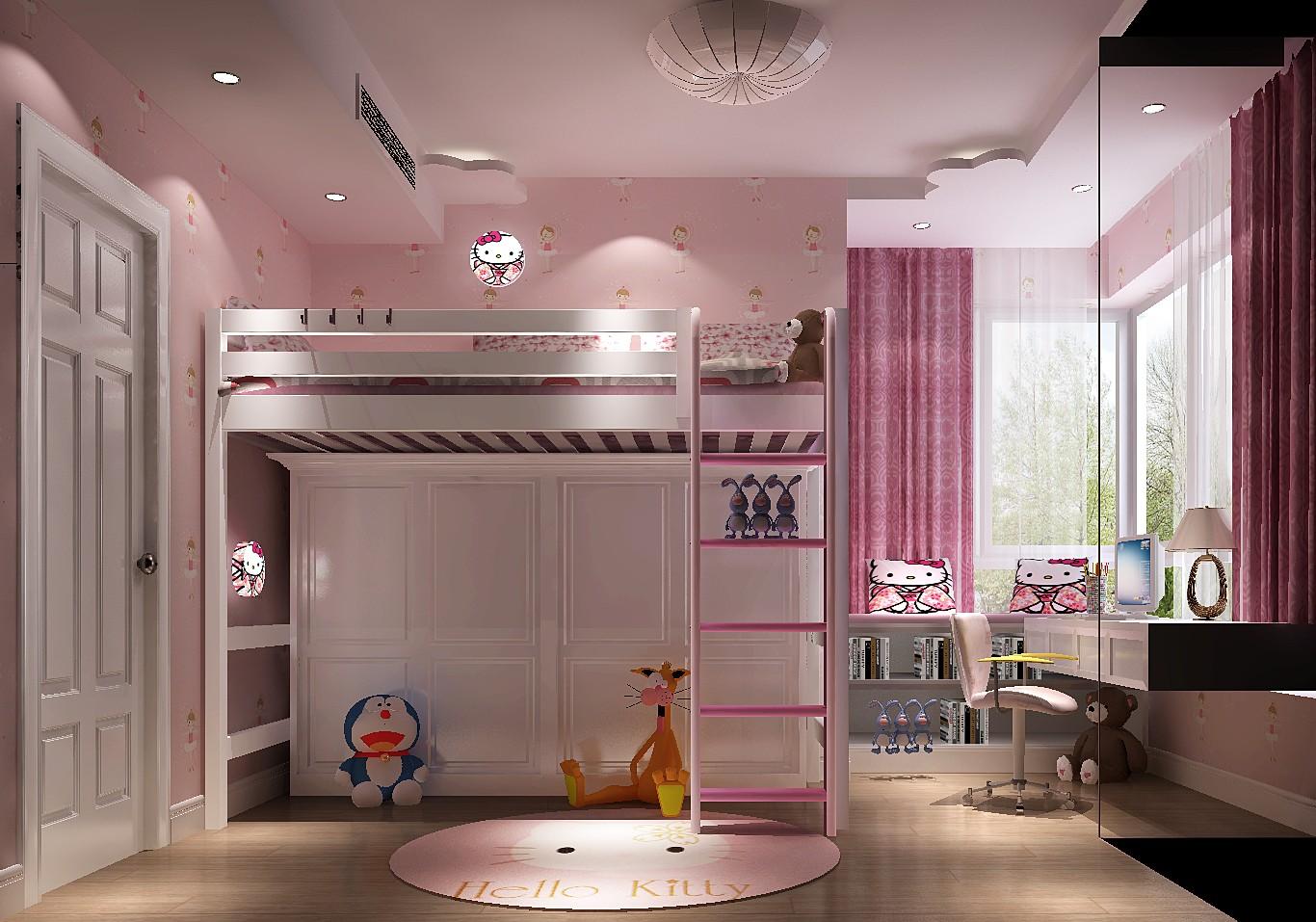 田园 三居 白领 80后 收纳 儿童房图片来自高度国际装饰刘玉在K2百合湾----幸福三口的分享