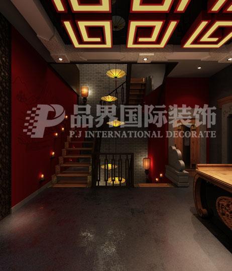 楼梯图片来自石家庄品界国际装饰在会所设计的分享