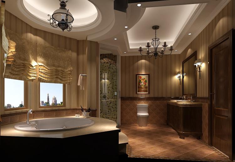 欧郡香水城 独栋别墅 欧式田园 高度国际 希文 卫生间图片来自高度国际装饰宋增会在欧郡香水城 独栋别墅的分享