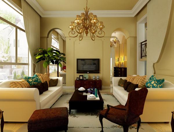 客厅作为待客区域,一般要求简洁明快,同时装修较其它空间要更明快光鲜,这不仅反映在软装摆件上对仿古艺术品的喜爱,同时也反映在装修上对各种仿古地砖、石材的偏爱和对各种仿旧工艺的追求上。