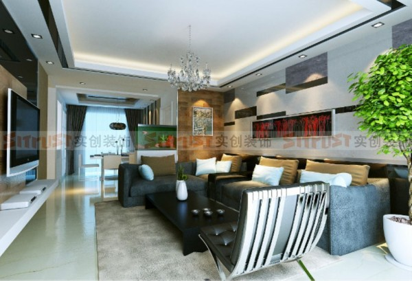 简约而不简单的家居环境,打破常规的流线尺寸造型融入流线圆润的家具尺寸,达到色彩、材料、质感的和谐搭配。