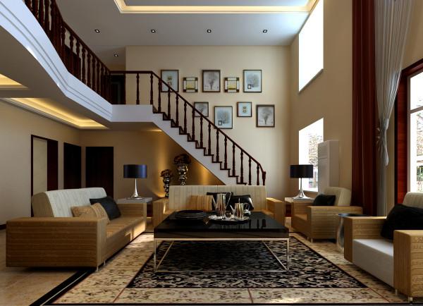 新中式风格的装修更加适合现代人的审美视觉,楼梯口的照片背景墙是一个富有想象空间的地方,和家人朋友温馨合影的刹那在这里可以找到。