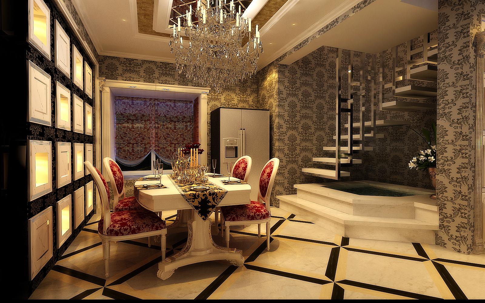 餐厅图片来自设计师候元甲在新古典的分享