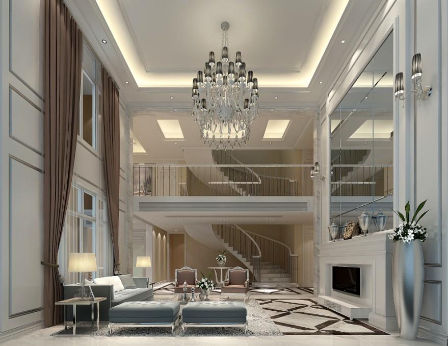 简约 混搭 别墅 新古典 客厅图片来自三金豆豆在新古典别墅-迎宾路3号的分享