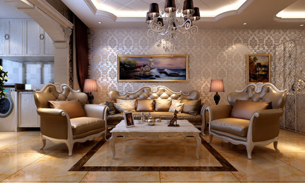 在客厅空间内,整体给人的感觉是温馨浪漫,不管是沙发墙上的壁纸还是电视墙上的软包,整体的空间都传递着暖暖的家的温馨。还没离家就已经想家应该也不过如此吧。