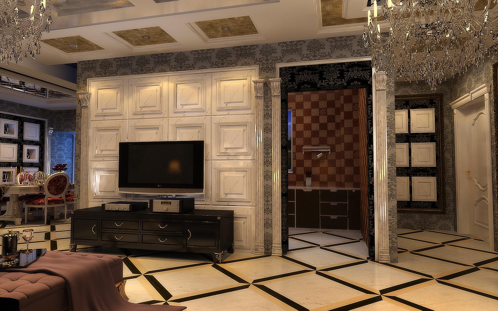 客厅图片来自设计师候元甲在新古典的分享