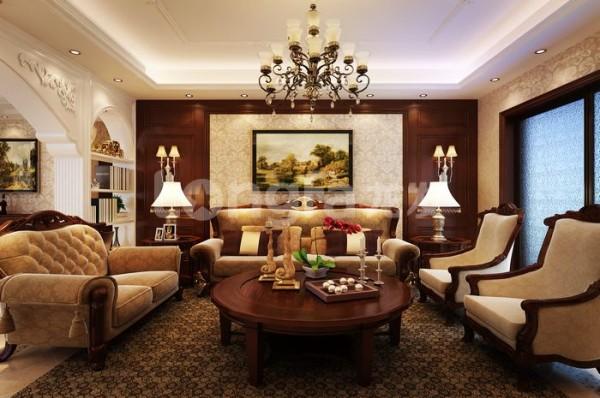 客厅,沙发,和灯饰。