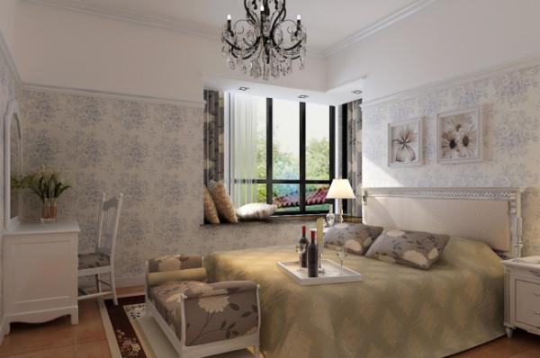 紫荆尚都100平美式田园风格-卧室效果图