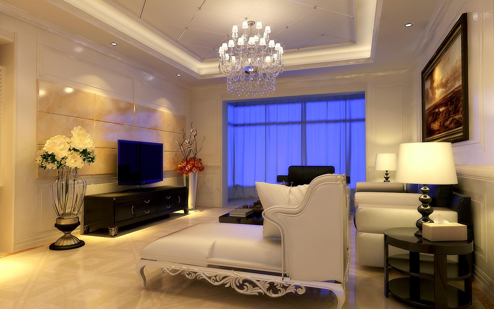 客厅图片来自设计师候元甲在欧式的分享
