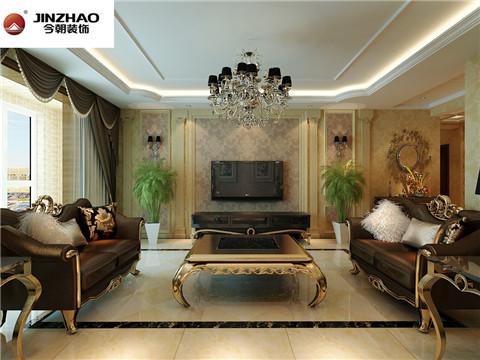 客厅:从配饰上以石材为主,营造了恢弘和大气的整体感觉,局部的造型和家具相互搭配,凹显出欧式风格,主色调以黄色为主,不失家庭所带给人的温馨感。