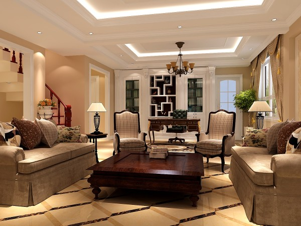 明亮的客厅兼具实用性