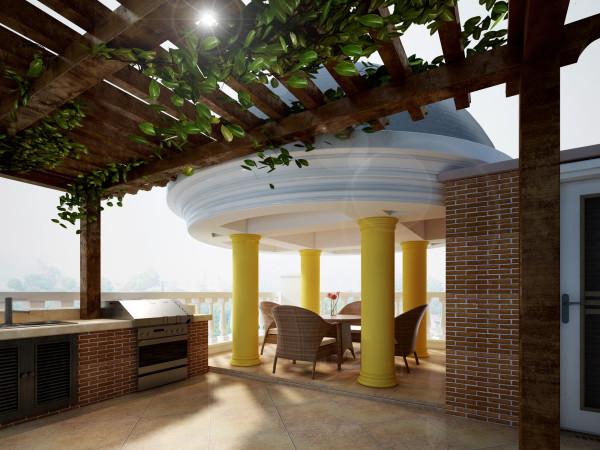 三楼及室外阳台是业主的个性化空间,所以在设计上更倾向于休闲。