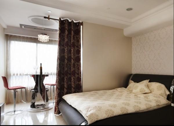 中原新城两居室简约风格装修设计效果图【卧室设计装修效果图】