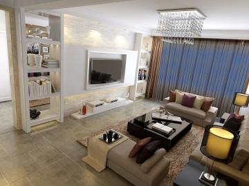 中央特区三居室简约风装修设计