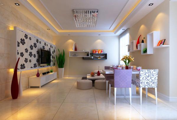 中原新城两居室简约风格装修设计效果图【餐厅设计效果图
