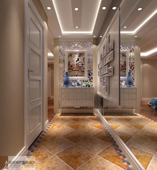 大量使用图画构件,将玻璃、瓷砖等新工艺,综合运用于室内。