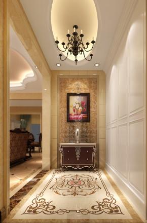 欧式 别墅 白领 80后 小资 白富美 高富帅 屌丝 玄关图片来自高度国际装饰舒博在燕西台的分享