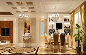 欧式 二居 白领 80后 小资 白富美 屌丝 高富帅 小清新 餐厅图片来自高度国际装饰舒博在山语城、花香鸟语的分享