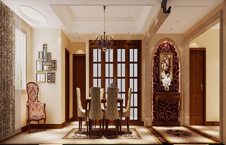 欧式 三居 白领 小资 白富美 高富帅 小清新 高度国际 屌丝 餐厅图片来自高度国际装饰舒博在西山华府、的分享