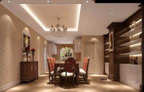 美式 四居 白领 80后 小资 小清新 高大上 白富美 高富帅 餐厅图片来自高度国际装饰舒博在上林世家的分享