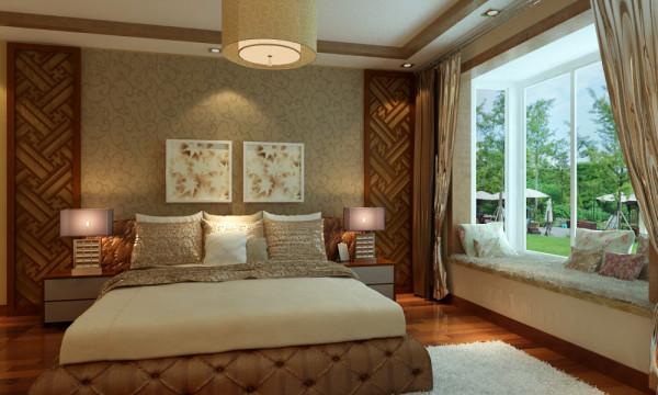 成都实创装饰—整体家装—130平米三居古典欧式风格—卧室装修效果图