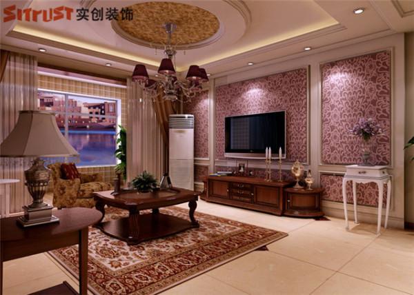 天山熙湖-138平米欧式装修-客厅效果图