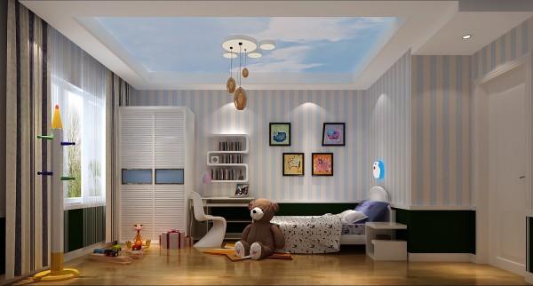 清新自然的儿童房更适合小孩的愉快生活
