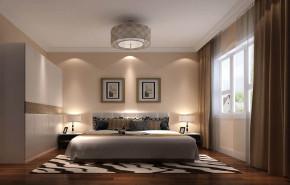现代 三居 白领 80后 小资 白富美 高富帅 屌丝 卧室图片来自高度国际装饰舒博在华业东方玫瑰的分享