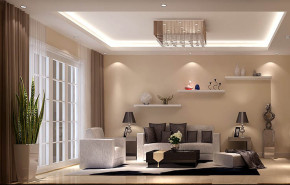 现代 三居 白领 80后 小资 白富美 高富帅 屌丝 客厅图片来自高度国际装饰舒博在华业东方玫瑰的分享