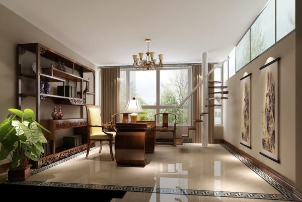 书房的设计古色古香,彰显业主的身份与气质。