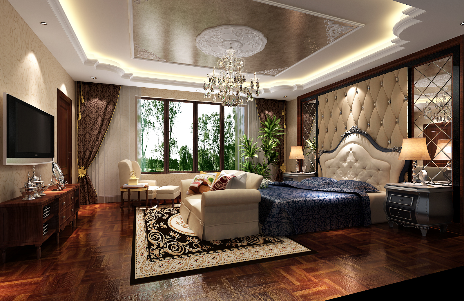 欧式 别墅 白领 80后 小资 白富美 高富帅 屌丝 卧室图片来自高度国际装饰舒博在燕西台的分享