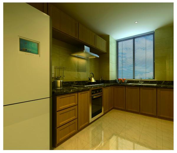 厨房空间没有过多的格局改造,适度调整厨房空间家具摆设,小小的改变,让空间有更多灵活与弹性。