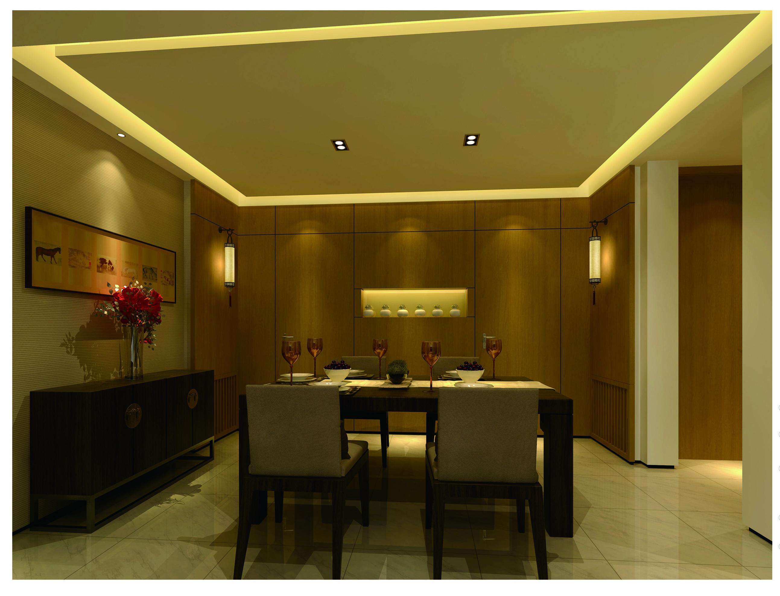 简约 三居 白领 现代简约 80后 客厅 餐厅 卧室 餐厅图片来自超凡装饰季国华在简约时尚风格样板间的分享