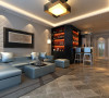 客厅灰色做旧的地砖、白色文化石沙发背景墙、灰色皮沙发,整体彰显出了品质的生活感。
