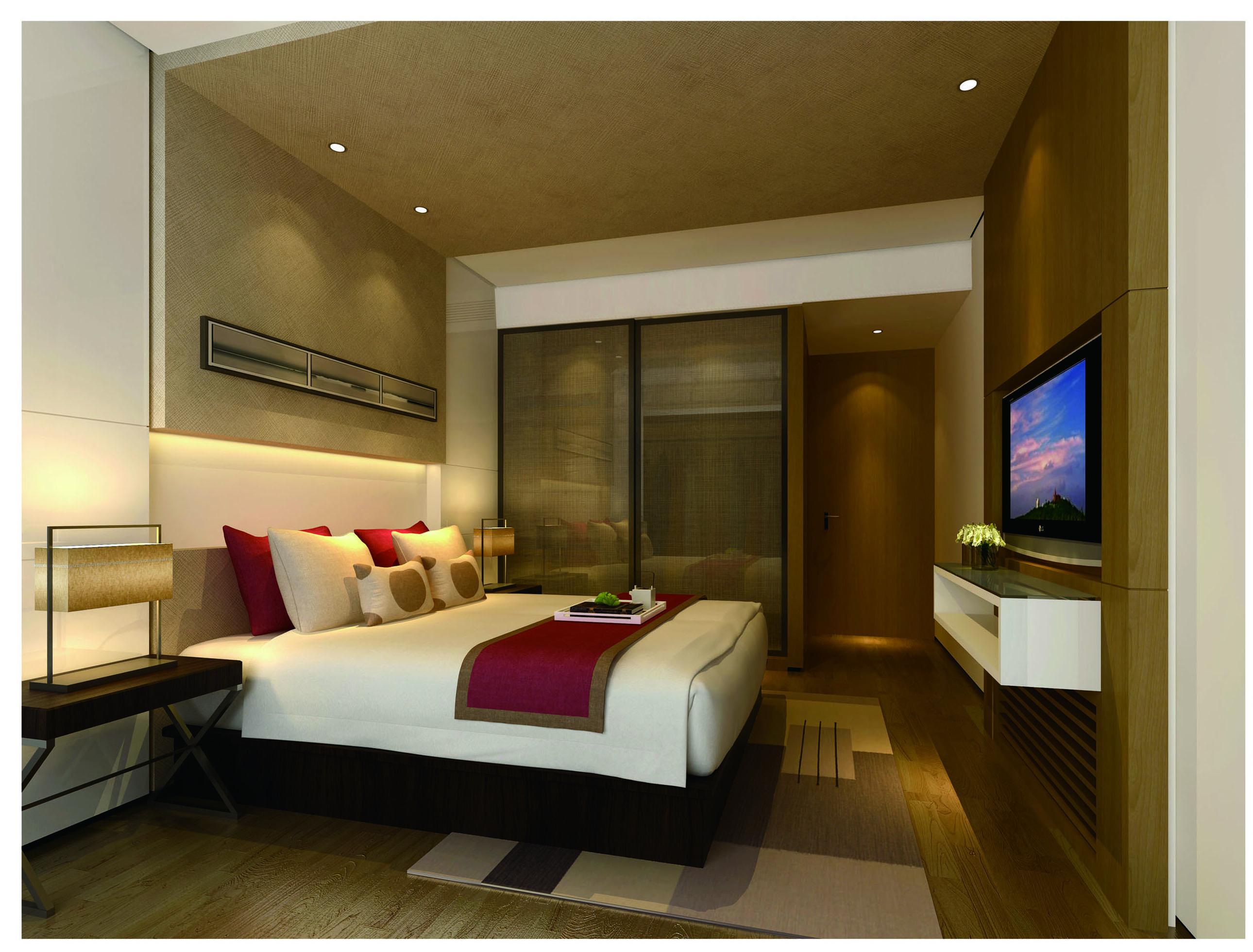 简约 三居 白领 现代简约 80后 客厅 餐厅 卧室 卧室图片来自超凡装饰季国华在简约时尚风格样板间的分享